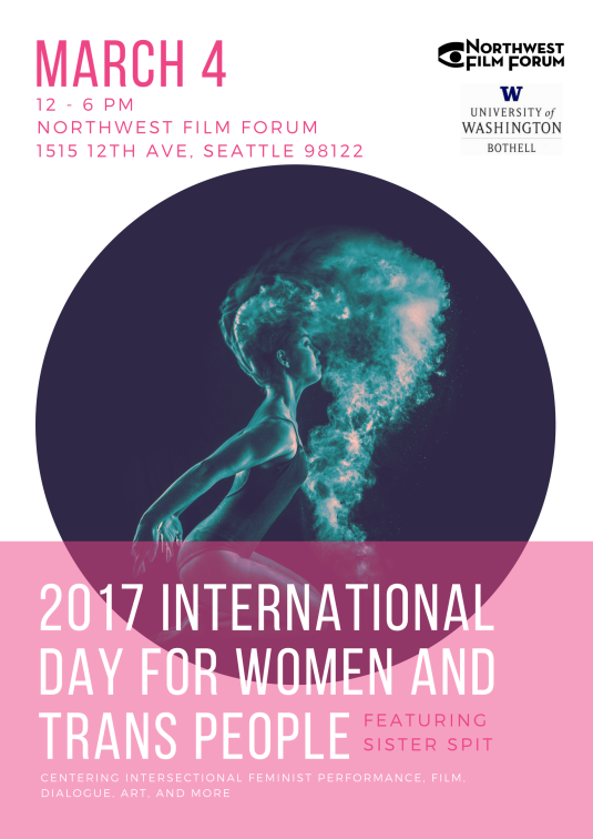 Poster for 2017 International Day For Women and Trans People