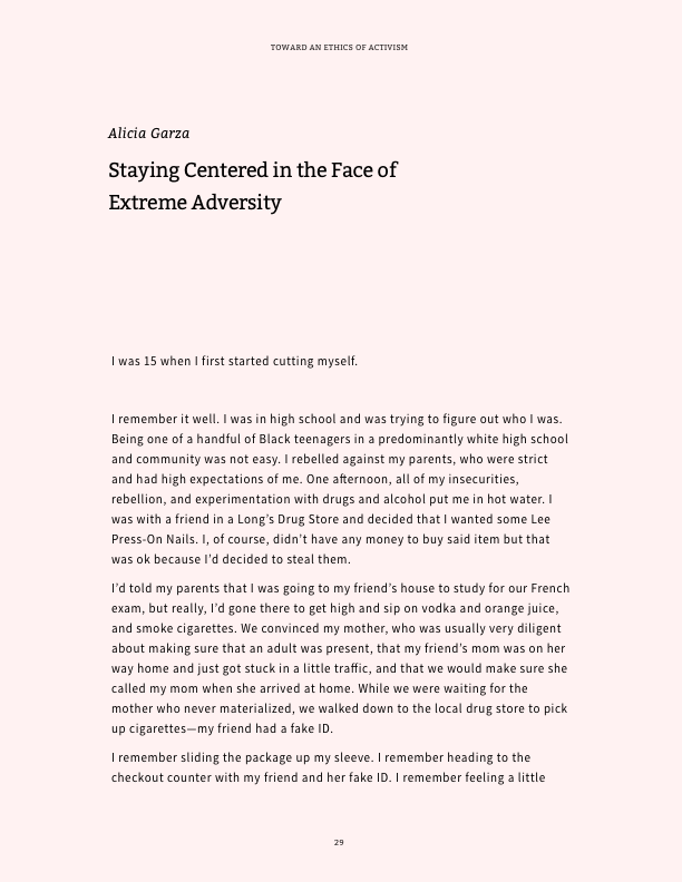Screenshot of Alicia Garza's Staying Centered in the face of Extreme Adversity