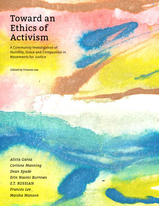 Watercolor cover of Toward an Ethics of Activism