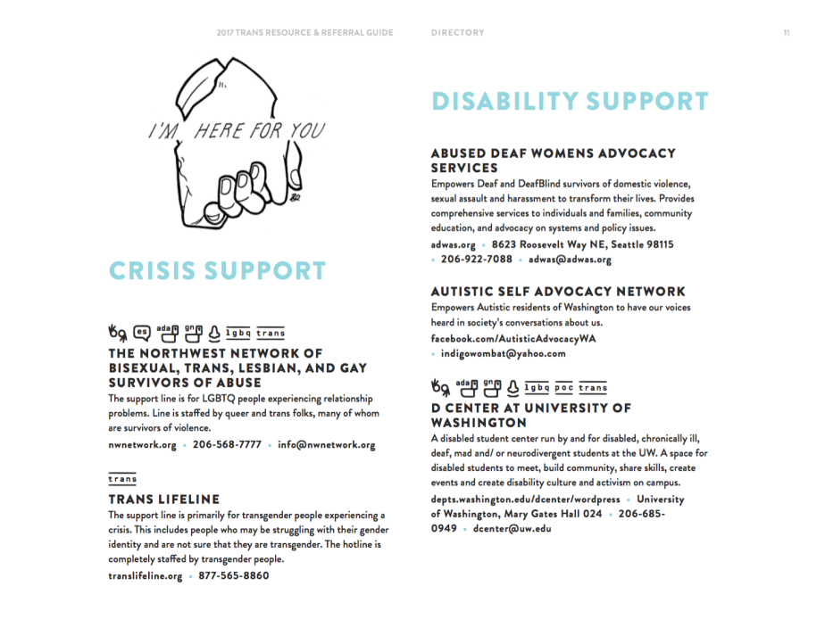 Crisis Support and Disability Support Sections